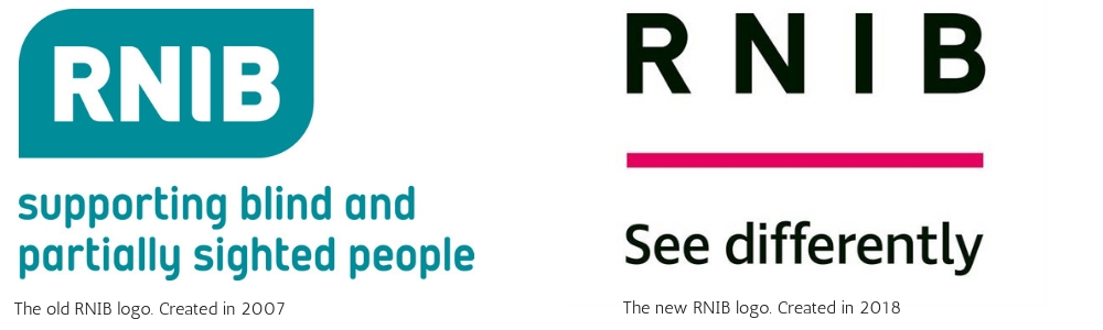 Image showing the new and old RNIB logos