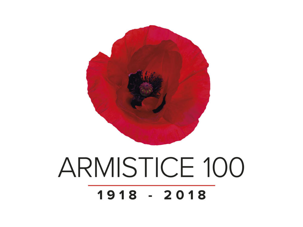 Armistice 100 Logo Designed by Brand Jam for the Armistice 100 Commemorations at the National Memorial Arboretum.