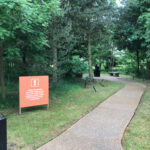 Designed by Brand Jam. Thank you of not touching signage at the National Memorial Arboretum