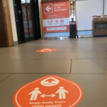 Designed By Brand Jam. Social Distancing Floor Graphics at the National Memorial Arboretum