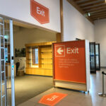 Reopening Exit signage at the National memorial Arboretum. Designed by Brand Jam